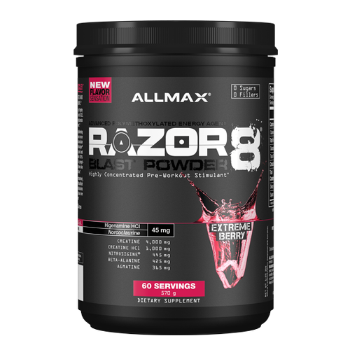 Allmax Razor8 Blast Powder Pre-Workout (60 Serv)