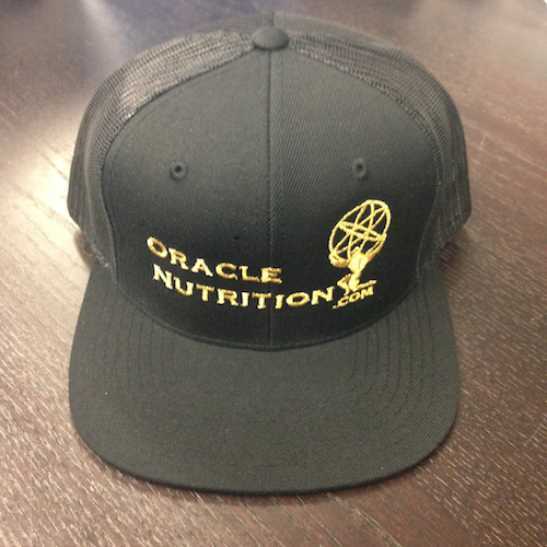 Oracle Nutrition Snapback Hats (Black&Gold)