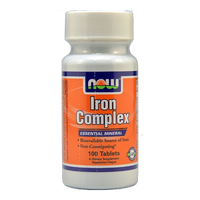 NOW Foods Iron Complex (100 Tabs)
