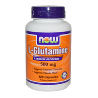NOW Foods 500 mg L-Glutamine (60 Capsules)