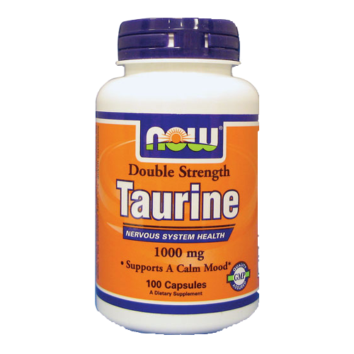 NOW Foods 1000 mg Taurine (100 Veg Capsules)