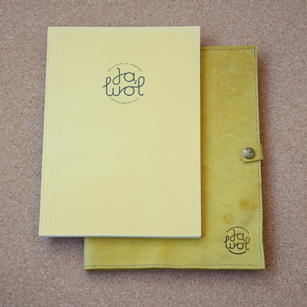 Ja, Wol - leather bujo sleeve L