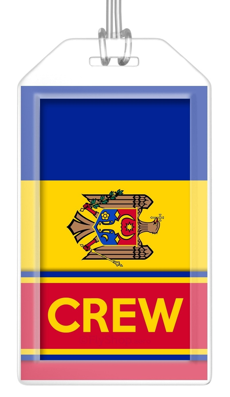 Moldova Flag Crew Bag Tag (Set of 2)