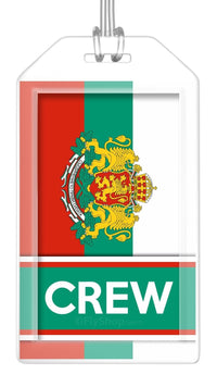 Bulgaria Flag Crew Bag Tag (Set of 2)