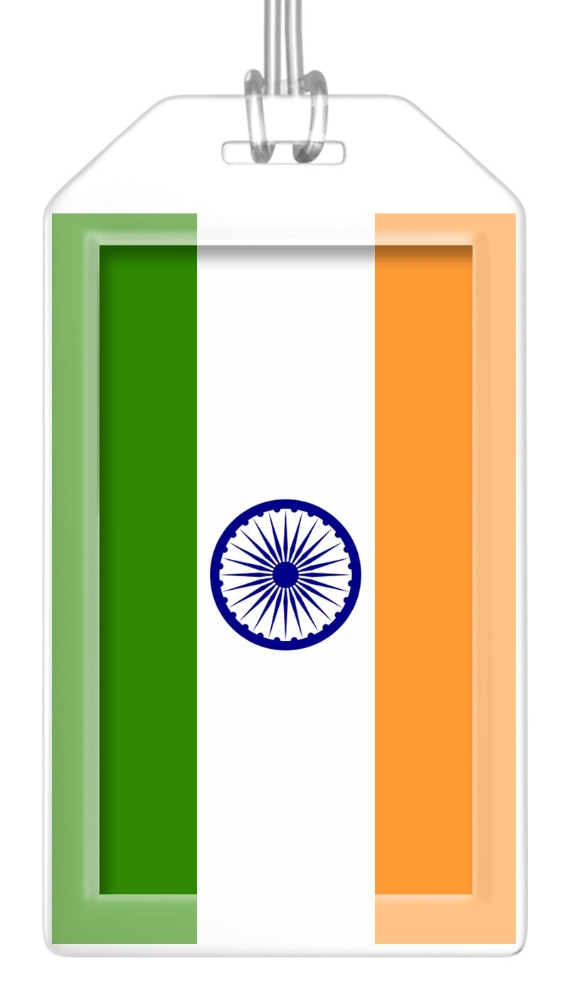 India Flag Bag Tag (Set of 2)