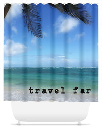 Travel Far St. Lucia Shower Curtain
