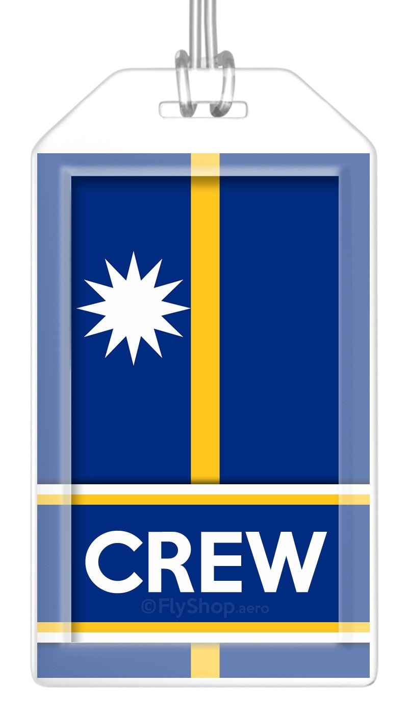 Nauru Flag Crew Bag Tag (Set of 2)