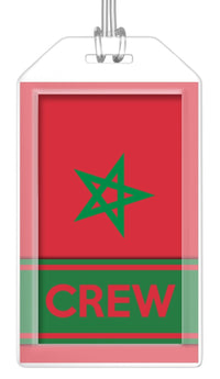 Morocco Flag Crew Bag Tag (Set of 2)