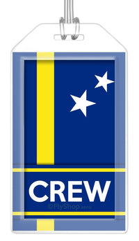 Curacao Flag Crew Bag Tag (Set of 2)