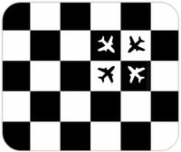 Checkered Flight (Large Pattern) Mousepad