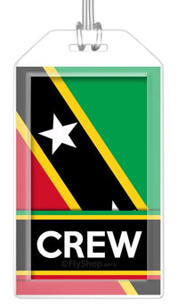 St. Kitts and Nevis Flag Crew Bag Tag (Set of 2)