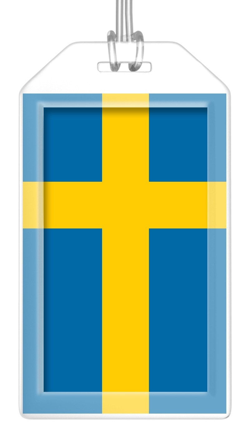 Sweden Flag Bag Tag (Set of 2)