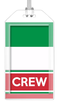 Italy Flag Crew Bag Tag (Set of 2)