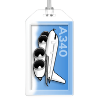 Airbus A340 Bag Tag (RR)