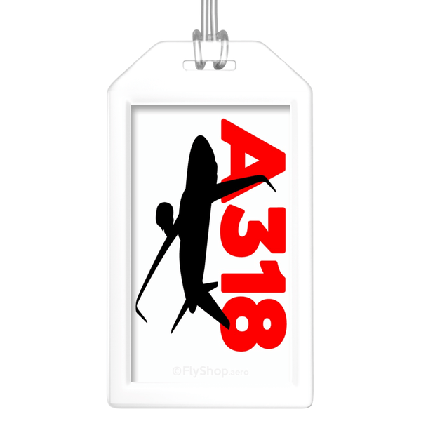 Sleek Silhouette Airbus A318 Bag Tag