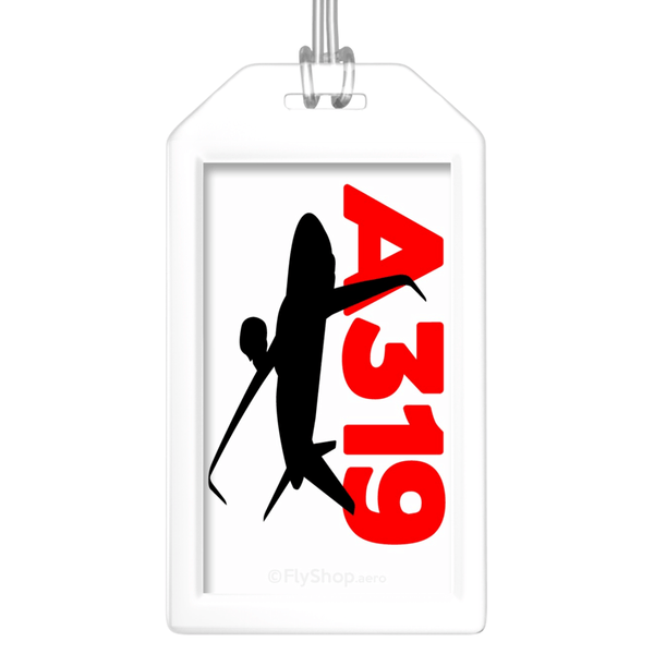 Sleek Silhouette Airbus A319 Bag Tag