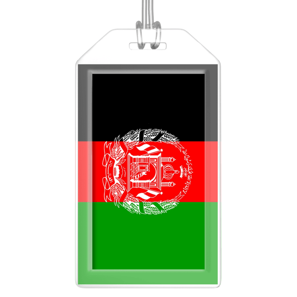 Afghanistan Flag Bag Tag (Set of 2)