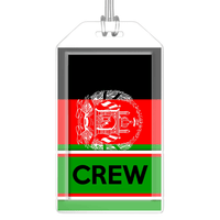 Afghanistan Flag Crew Bag Tag (Set of 2)