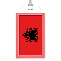 Albania Flag Bag Tag (Set of 2)