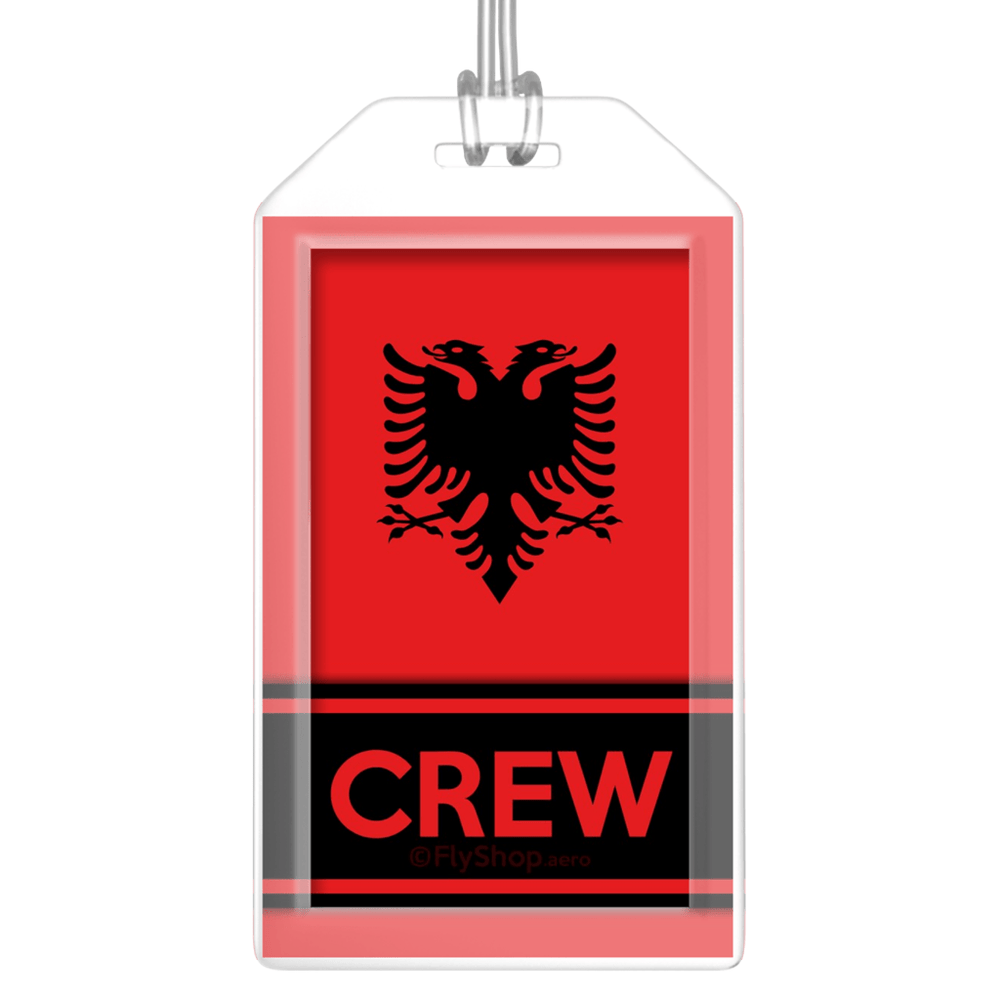 Albania Flag Crew Bag Tag (Set of 2)