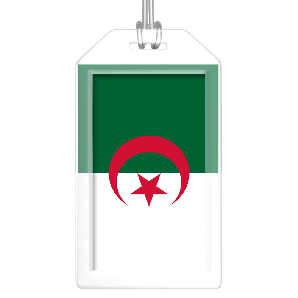 Algeria Flag Bag Tag (Set of 2)