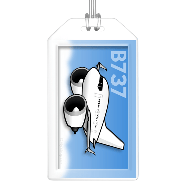Boeing 737 (Split Scimitar) Bag Tag
