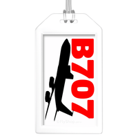 Sleek Silhouette Boeing 707 Bag Tag