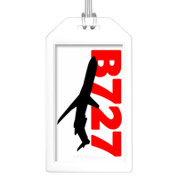 Sleek Silhouette Boeing 727 Bag Tag