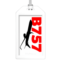 Sleek Silhouette Boeing 757 Bag Tag