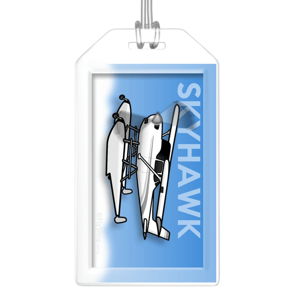 Cessna 172 Skyhawk (on floats) Bag Tag