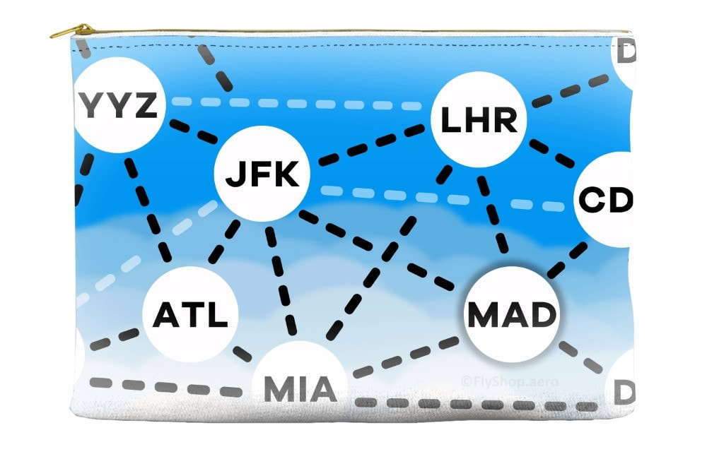 Connect The Dots Airports Pouch