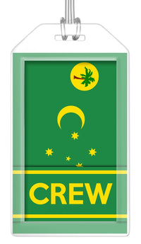 Cocos (Keeling) Islands Flag Crew Bag Tag (Set of 2)