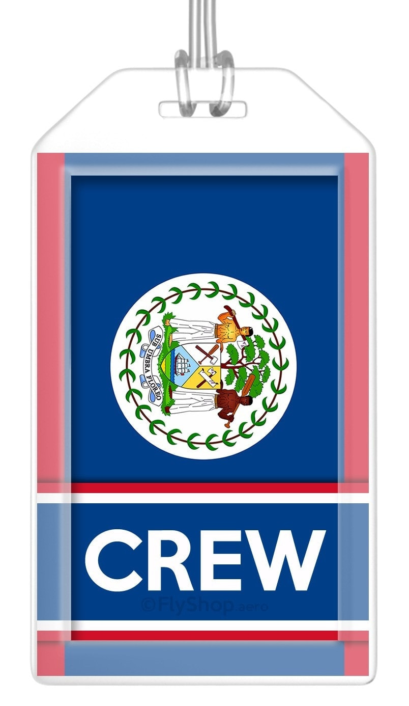 Belize Flag Crew Bag Tag (Set of 2)