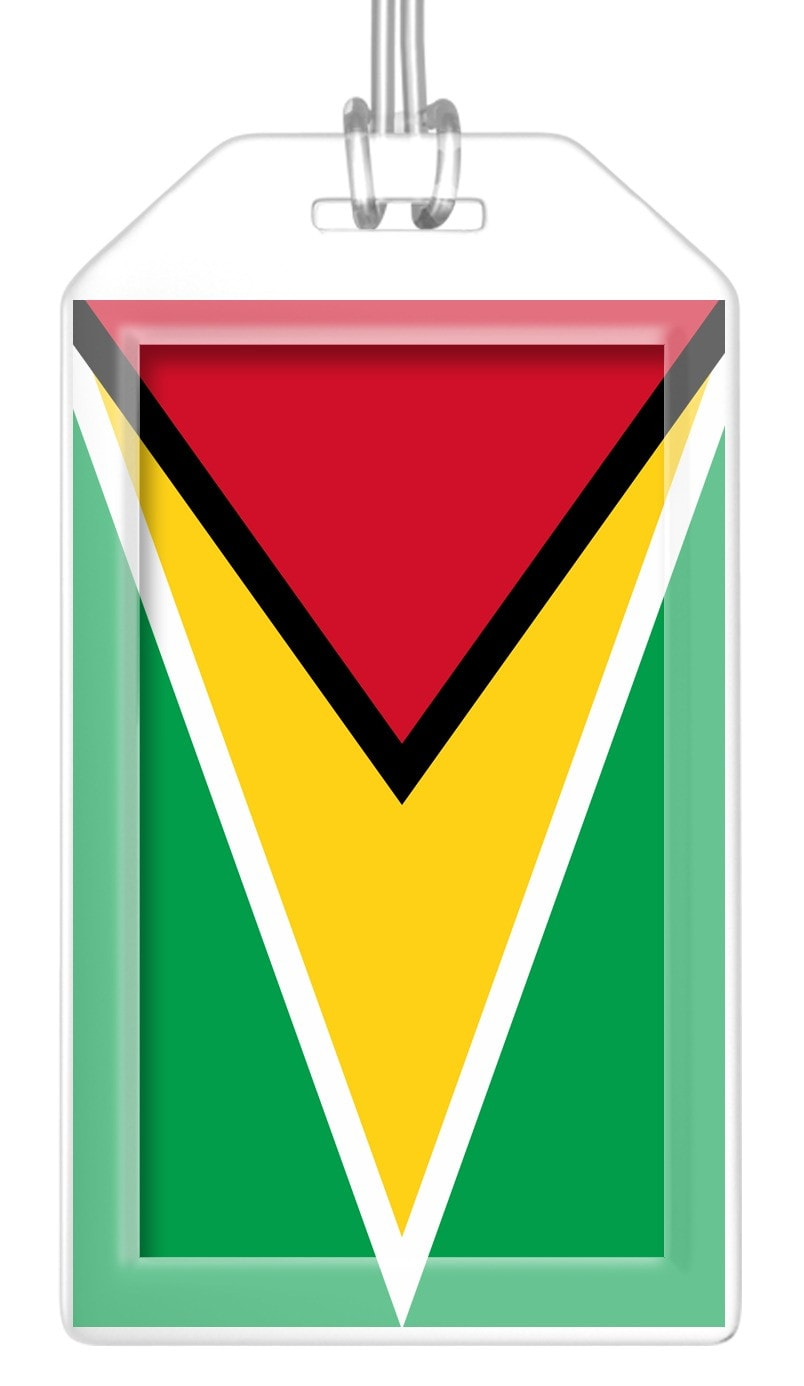 Guyana Flag Bag Tag (Set of 2)