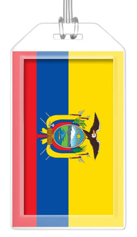 Ecuador Flag Bag Tag (Set of 2)