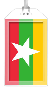 Myanmar Flag Bag Tag (Set of 2)