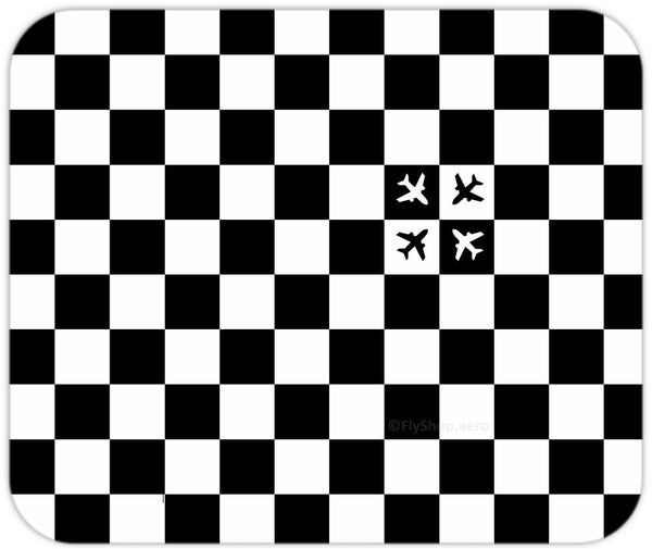 Checkered Flight (Small Pattern) Mousepad