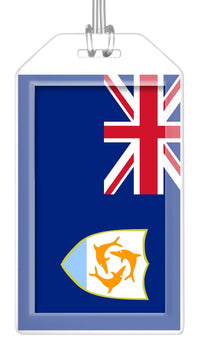 Anguilla Flag Bag Tag (Set of 2)
