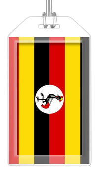 Uganda Flag Bag Tag (Set of 2)