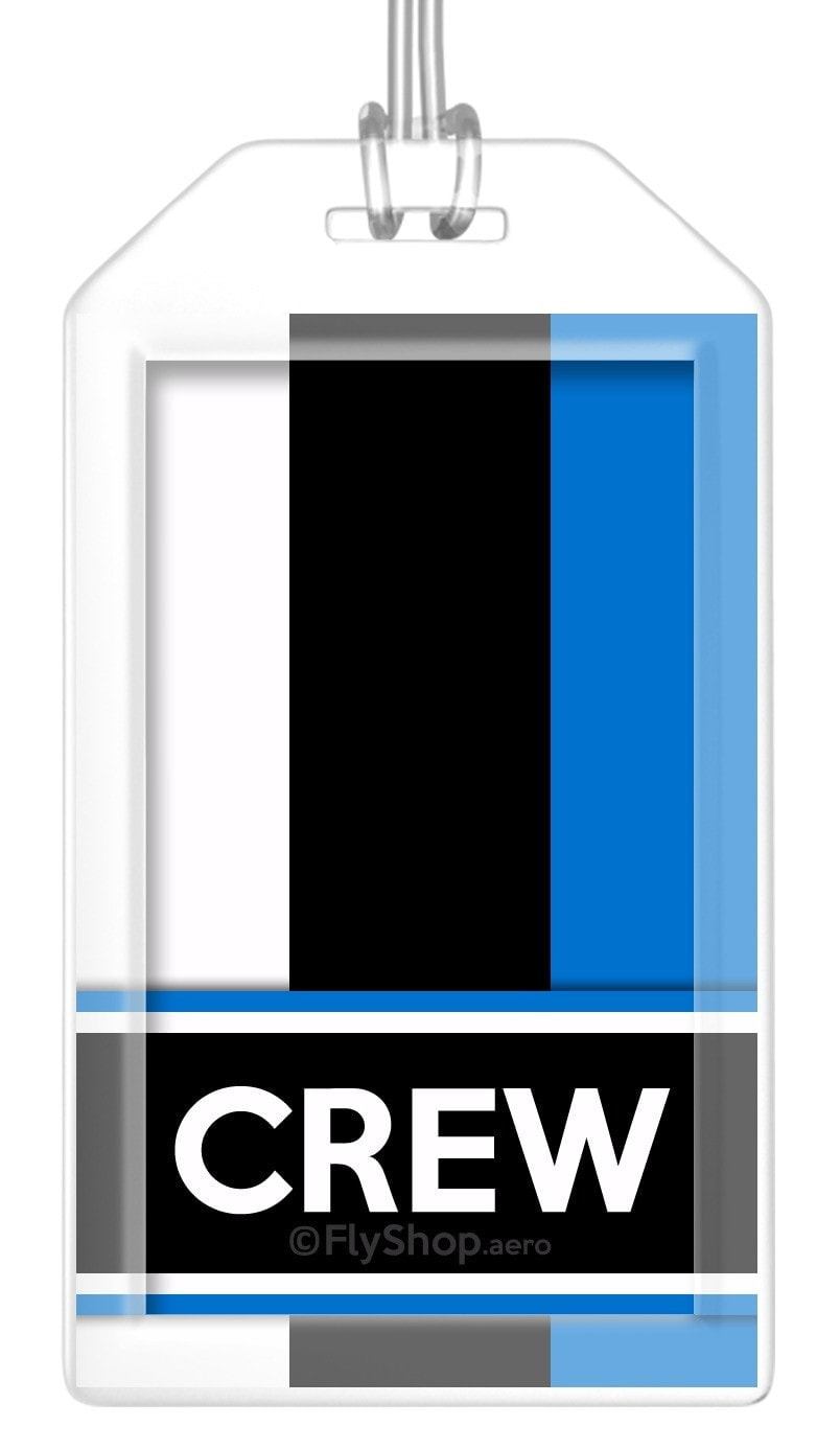 Estonia Flag Crew Bag Tag (Set of 2)
