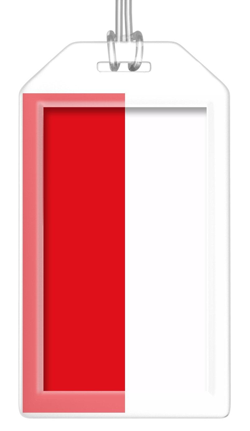 Poland Flag Bag Tag (Set of 2)