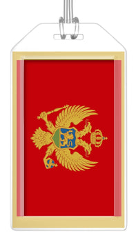 Montenegro Flag Bag Tag (Set of 2)