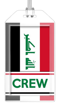 Iraq Flag Crew Bag Tag (Set of 2)
