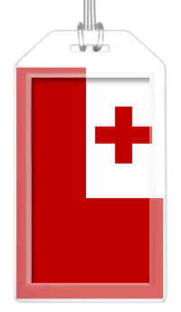 Tonga Flag Bag Tag (Set of 2)