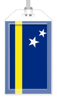 Curacao Flag Bag Tag (Set of 2)