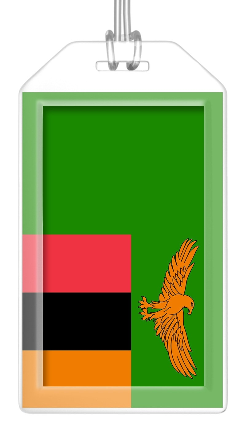 Zambia Flag Bag Tag (Set of 2)