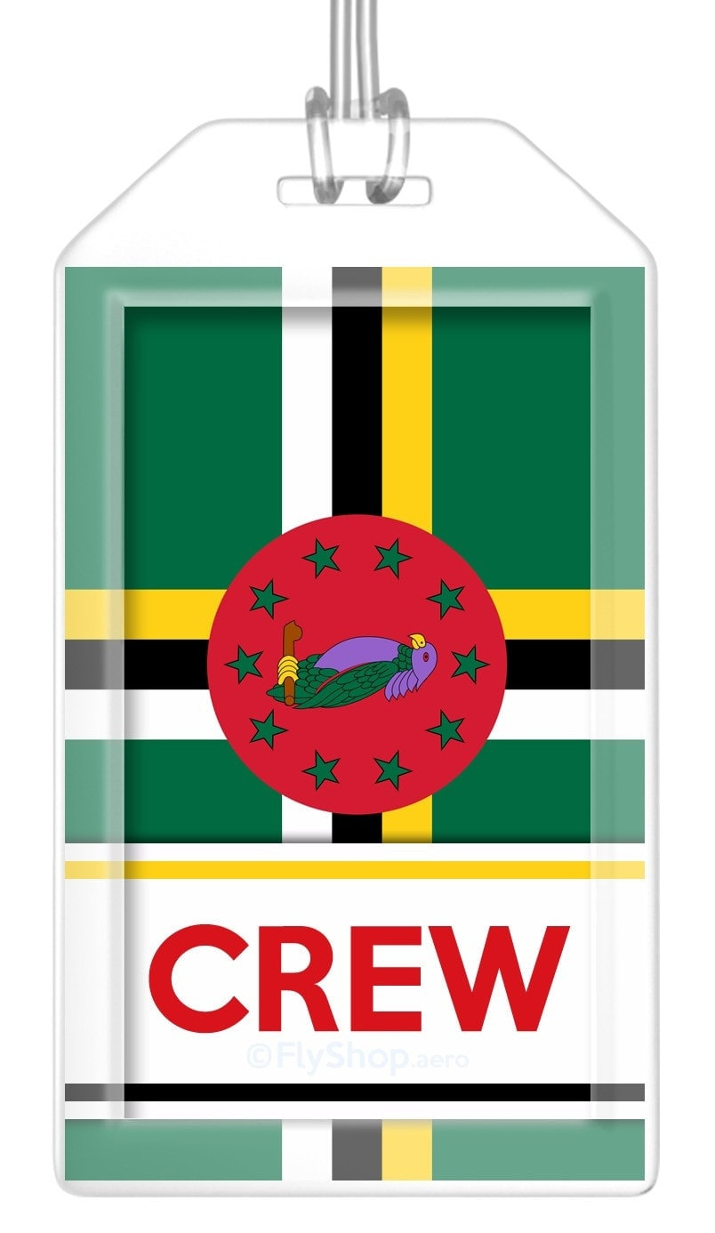 Dominica Flag Crew Bag Tag (Set of 2)