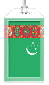 Turkmenistan Flag Bag Tag (Set of 2)