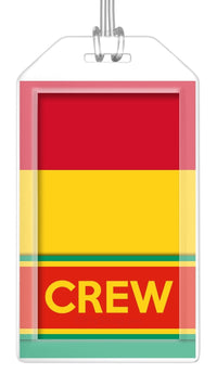 Guinea Flag Crew Bag Tag (Set of 2)