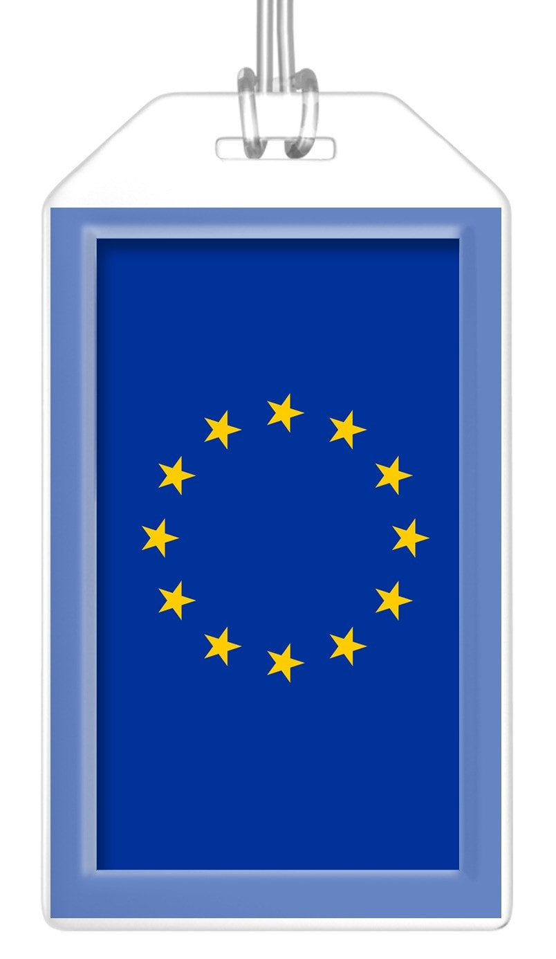 European Union Flag Bag Tag (Set of 2)